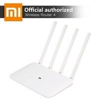 ingrosso mini ripetitore wifi-Router wireless Xiaomi Mi Wifi 4 Dual Band 2.4 / 5ghz Gigabit Smart Mini Wifi Ripetitore 4 Antenne Dual Core 880mhz App Control T190619