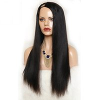 Wholesale u part wigs human hair for sale - Group buy Straight Hair x4 U Part Human Hair Wigs For Black Women Brazilian Remy Hair Inches Lace Wigs