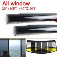 ingrosso rotoli in vinile per finestre-2PLY All Window (laterale e posteriore) 0.5x3m + 0.76x3m Car Window Tint Film Vinyl Roll