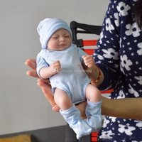 gerçek görünümlü kız bebekleri toptan satış-Tam vücut silikon reborn bebek bebekler Reborn Bebek Bebekler El Yapımı Reborn 11 inç Gerçek Görünümlü Yenidoğan Bebek Kız Silikon Gerçekçi Doll