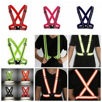 Wholesale cycle safety clothing for sale - Visibility Reflective Vest Colors Night Warning Safety Outdoor Waistcoat Cycling Sports Contruction Tops Home Clothing OOA6078