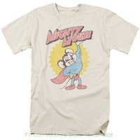 vintage maus großhandel-Neuer Entwurfs-Sommer-gute Qualitätsmächtige Mäuseklassiker-Karikatur-schweres Logo-Weinlese-Art-T-Shirt alle Größen
