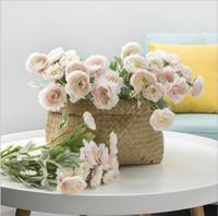 az yapay çiçekler toptan satış-Ins İskandinav tarzı Yapay Çiçekler dekorasyon için ipek Küçük lotus çiçek ev masa çiçek Düğün Dekorasyon duvar dekor Ev Dekorasyonu