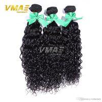 saç uzantıları kıvırcık dalga toptan satış-Peru su dalgası Kıvırcık Saç Dokuma İşlenmemiş Perulu Bakire VMAE Saç% 100 Brezilyalı doğal dalga insan saç uzatma opp demetleri