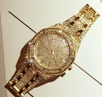 reloj helado completo al por mayor-Hot Exquisito Reloj de lujo para hombre Moda Iced Out Trend Reloj de cuarzo impermeable Starry Full Diamond Fashion Watch