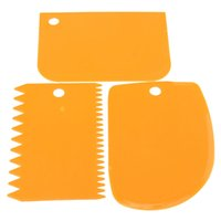 Wholesale fondant edge cutters for sale - Group buy 3 plastic dough scraper Icing Fondant Cake Decorating Baking Pastry Tools Simply Smooth Jagged Edge Spatulas Cutters