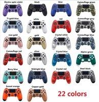 spielcontroller groihandel-Drahtlose Bluetooth-Controller für PS4 Joystick Gamepad Game Controller 22 Farben mit Kleinkasten schnelles Verschiffen