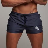 erkekler mayo ince toptan satış-Yaz Erkek Spor Koşu Şort Slim Fit Basketbol Spor Kısa Pantolon Plaj Şort Spor Tayt Sıkıştırma Erkekler Mayo