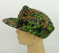 Wholesale caps m42 for sale - Group buy tomwang2012 WWII German ARMY M42 Cap Oak Leaf Reversible Camo MILITARY HAT