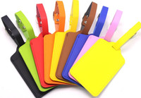Wholesale id card accessories resale online - 9styles PU Leather Suitcase Luggage Tag Label Bag Pendant Handbag Portable Travel Accessories Name ID Address Tags check in card FFA2326 A