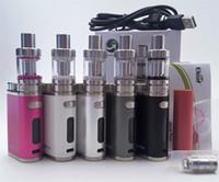 mod vv vw starter kit venda por atacado-Pico 75 w starter kit com vv tc vw 75 w melo 3 mini tanque de controle de fluxo de ar invisível vape mod caixa de vaporizador mod cigarro eletrônico