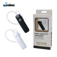 mini smartphones al por mayor-Universal M165 solo auriculares inalámbricos Bluetooth Auriculares mini 4.0 Auriculares estéreo auriculares manos libres para teléfonos inteligentes