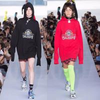 Wholesale korean hoodie blue online – oversize 2019SS Korean Top Quality Vetements Women Men Pullover Hoodies Hip hop Funny animal printing oversize Sweatshirts colors M XXL