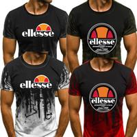 eingefärbte t-shirts großhandel-Ellesse Herren Designer-T-Shirts Sommer-Grün, Rot, Weiß Grau Splash Ink Graphic Mens Fashion Designer-T-Shirt Top-Qualität Short Sleeve S-3XL