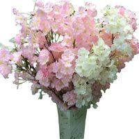 ingrosso fiore artificiale di qualità-Fiore di seta Fiore di ciliegio Fiore di seta per matrimonio Artificiale Sakura 2 Opzioni colore Vasi di alta qualità Decorazione domestica