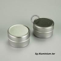 Wholesale mini aluminium container for sale - Group buy 50pcs g Mini Aluminium Silver Jar Empty Sample Container Podwer Jar Cosmetic Container Travel Pot Jar mm