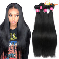 Wholesale grades human hair extension for sale - Group buy Unprocessed Peruvian Straight Virgin Hair Weaves Bundles Grade a Peruvian Straight Human Hair Extensions Peruvian Hair Weave Bundles