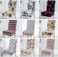 Wholesale multifunctional chair resale online - Floral Printing Chair Cover Home Dining Multifunctional Spandex Chair Cover Removable Elastic Slipcovers Seat Covers Styles LJJ_OA3463