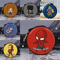 Wholesale Best Headphones - The Avengers mini zero Headphones, charging cables wallet spider-man iron man captain America Avengers best gift for kids
