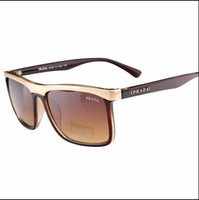 neue randlose titanrahmenmarken großhandel-new prada sonnenbrille retro polarisierte luxus designer sonnenbrille randlose vergoldete quadratische rahmen marke sonnenbrille mode brillen keine box 3