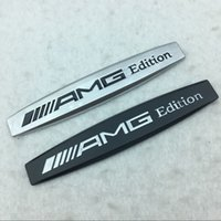 parte traseira do emblema de benz venda por atacado-Cauda 3D Metal Alumínio AMG Carro Fender Tronco Rear Fender emblema do emblema decalque adesivo para a Mercedes-Benz AMG C E S CLASS