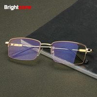 Wholesale frames games for sale - Group buy Brightzone Metal Memory Exceed Projectile Half Frame Defence Radiation Blue Light Internet Study Game Plain Glasses Goggles