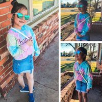 Wholesale drop ship kids clothes for sale - Group buy Hoodies Sweatshirts Teen Kids Girls Letter Multicolor Hoodies Sweatshirts Pullover Tops Clothes Clothing Drop Shipping