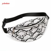 Wholesale ladies chest resale online - Retro Serpentine Chest Bag Mini Women s Purse Crossbody Bag Lady Belt Package Vintage Snake Skin Printed Waist Pack
