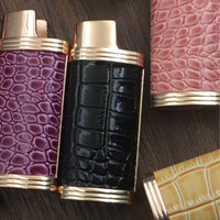 Wholesale leather pipe case resale online - New Metal Leather Skin Lighter Case Casing Shell Protection Sleeve Portable Innovative Design Multiple Colour For Smoking Pipes Tool DHL