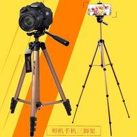 cámara trípode weifeng al por mayor-weifeng WT 3130 manejabilidad cámara de video DV trípode móvil clip de teléfono portátil trípode de aluminio