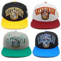 Wholesale free cosplay online - Harry Potter hat Hogwarts Baseball cap Adult Cotton Ball Snapback Caps Adjustable Hip Hop Hats Boys Girls Cosplay Gift AAA2104