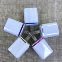 base para batería de teléfono móvil al por mayor-pared de metal con doble puerto USB de EE.UU. enchufe 2.1A Adaptador de corriente AC cargador de pared enchufe del puerto 2 para la nota Xiaomi Huawei tablet LG