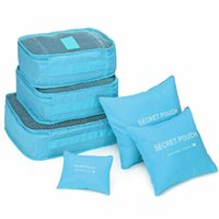 сетчатые мешки для одежды оптовых-6Pcs Waterproof Travel Nylon Mesh Storage Bags Multipurpose Clothes Packing Cube Foldable Luggage Organizer Pouch Suitcase Large