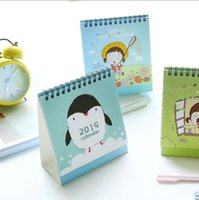 Wholesale office supplies calendars for sale - Group buy 2019 Pig DIY Animals Series Mini Table Calendars Desk Calendar Office School Supplies