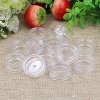 Wholesale free nail art samples resale online - 1000 g clear jar ml plastic Packaging Sample cream pot nail art glitter powder case Empty box