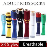 çocuklar için beyaz çoraplar toptan satış-2020 Boca Juniors Futbol Çorap Diz Yüksek Çorap Yetişkin Kalınlaşmak Havlu Alt Dışarıda Uzun Hortumlar Beyaz Spor Çorap Çocuk Futbol çorap M625F