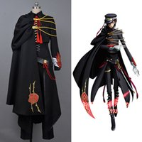 Wholesale code uniform for sale - Group buy Code Geass Lelouch of the Rebellion Black Full Set Uniform Cosplay Costume Halloween Carnival Women Men