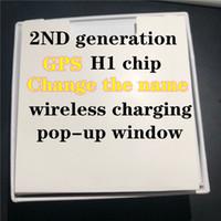 beyaz kırmızı kulaklık toptan satış-değişim adı kablosuz kulaklıklarla konum h1 çip Hava 2'de Kulak Sensör tws kulaklık w1 çip PK i12 i500 tws i200 i1000 GPS