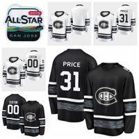 melhor jogo de preço venda por atacado-2019 All Star Game Carey Preço Personalizar Montreal Canadiens Camisolas De Hóquei Preto Branco Jersey # 31 Carey Preço Costurado Camisas Melhor Qualidade