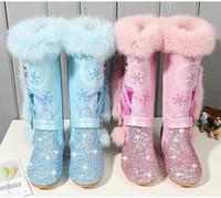 niedliche fersenstiefel großhandel-2020 nette Karikatur-Winter-Schuhe für Kinder Mädchen High Heel Velvet Snow Boots Kinder Stiefel der Baby-Prinzessin Cotton Boots