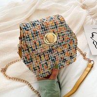 wolle kreuz körper tasche großhandel-Wolle Hexagon Crossbody Taschen für Frauen 2019 Kette Schulter Messenger Bag weibliche Herbst Handtaschen Farben Cross Body Bag Freies Verschiffen