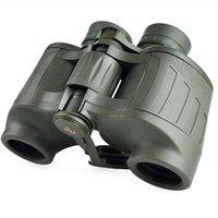 jumelles de chasse achat en gros de-12X40 jumelles télescope haute définition portable scintillant de chasse la vie imperméable binocle optique film vert Field-lunettes