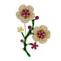 broche de zircon venda por atacado-DIY acessórios broche vazio suporte micro set zircão flor broche moda temperamento de água doce pérola broche de cobre