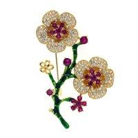 броши из цветных жемчужин аксессуары оптовых-DIY аксессуары брошь пустой кронштейн микро набор Циркон цветок брошь мода темперамент пресноводные жемчуг медь брошь