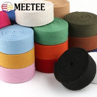 Wholesale dog collar webbing for sale - Group buy Meetee mm Thicken mm Canvas Webbing Ribbon Strap for Backpack Belt Dog Collar Woven Bands Sew DIY Crafts Accessory