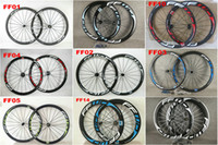 Wholesale tubular wheel china resale online - China Oem FFWD mm Carbon Road Wheels Wheelset Clincher Tubular Matte glossy Bike Wheelset many colors