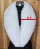 bufanda de zorro azul al por mayor-Bufanda de cuello de piel de zorro lleno 100% real bufanda bufanda de cuello de piel de zorro azul natural 100 cm * 16 cm