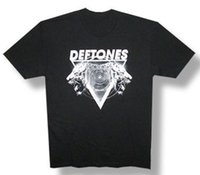 модные футболки тигровые оптовых-Deftones-Гипно Тигр-2012 тур - черный легкий футболка лето горячая распродажа смешной бренд печатных модные шею мужчины короткие