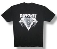 shirts tigre da moda venda por atacado-Deftones-Hypno Tiger-2012 Tour-Preto Leve T-shirt de verão Hot Sale Engraçado marca Impresso Elegante Rodada Pescoço do homem curto