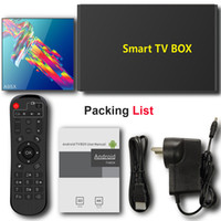Wholesale media mini tv resale online - A95X R3 Android TV Box Dual Band G G Wifi Rockchip RK3318 Quad Core Smart Mini PC Bluetooth Media Player